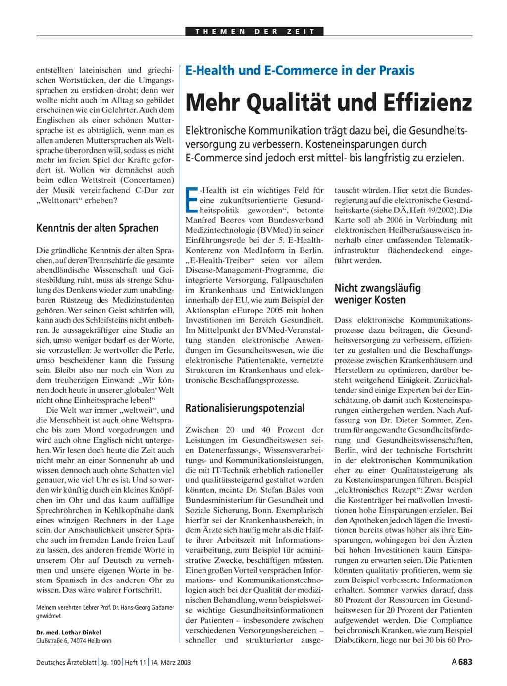 E health und e commerce in der praxis mehr qualit t und for Medizin studieren schweiz