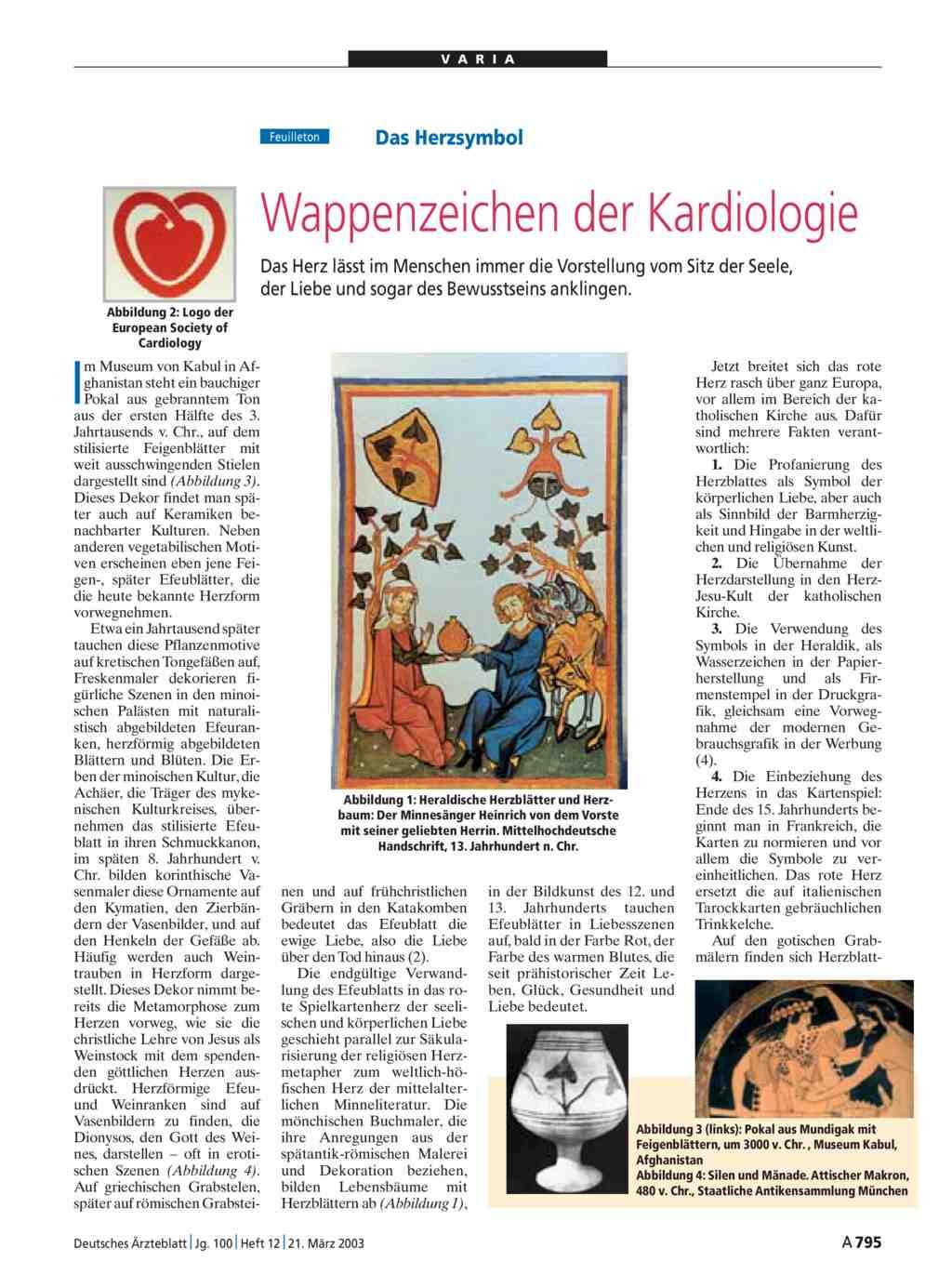Das Herzsymbol: Wappenzeichen der Kardiologie