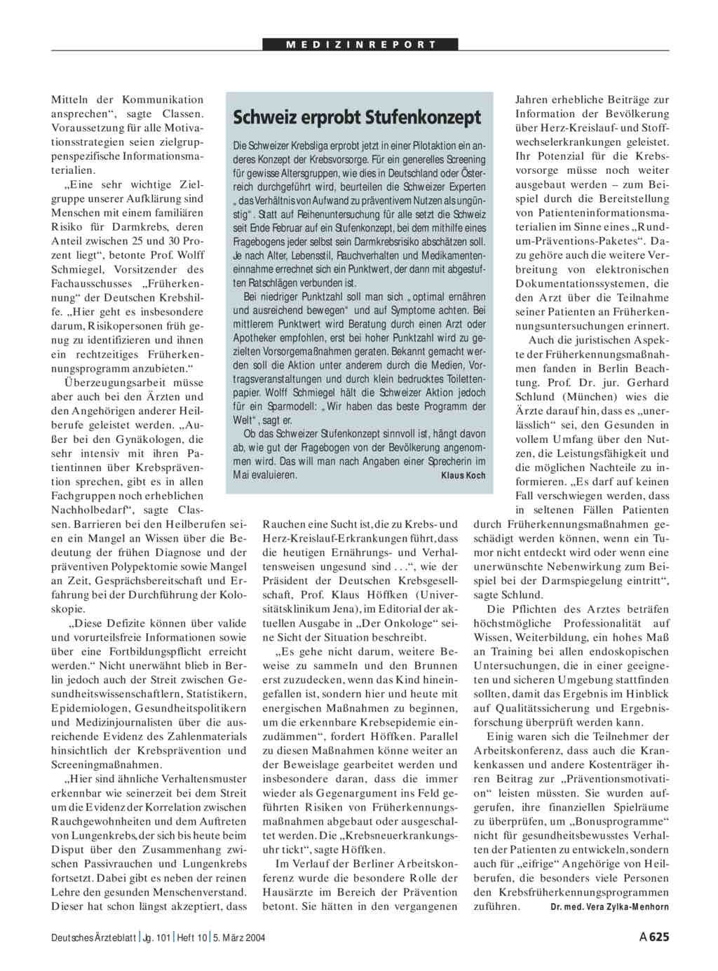 Schweiz erprobt stufenkonzept for Medizin studieren schweiz