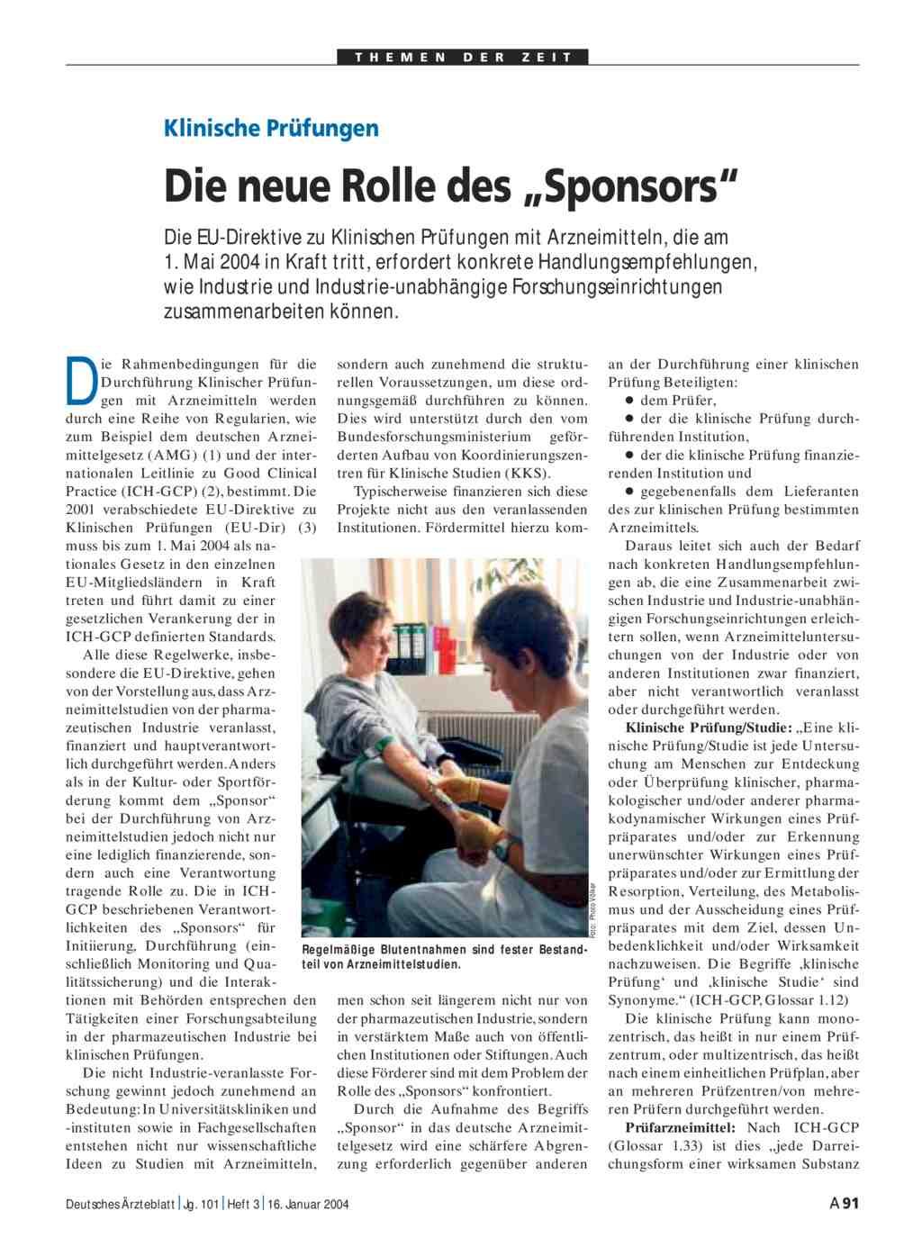 """Klinische Prüfungen: Die neue Rolle des """"Sponsors"""""""