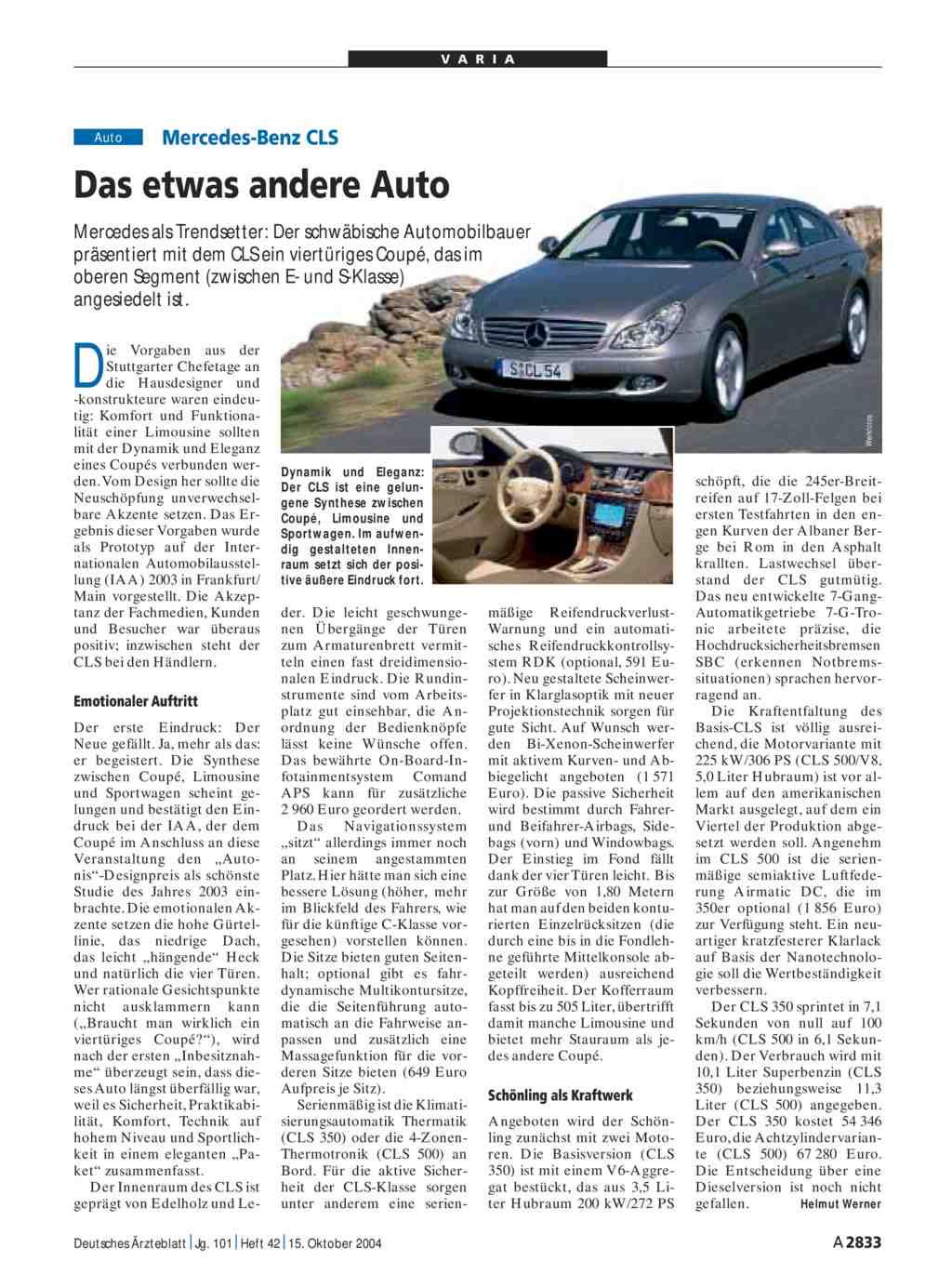 Mercedes-Benz CLS: Das etwas andere Auto