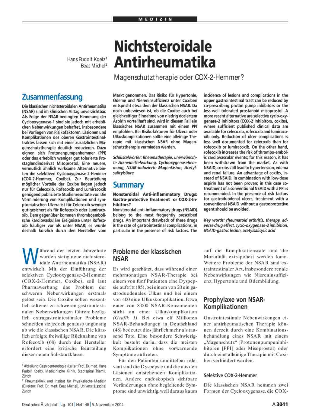 nichtsteroidale antiphlogistika wirkung