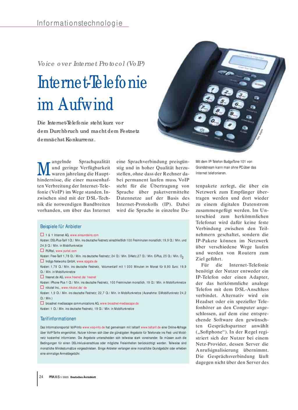 Voice Over Internet Protocol Voip Internet Telefonie Im Aufwind