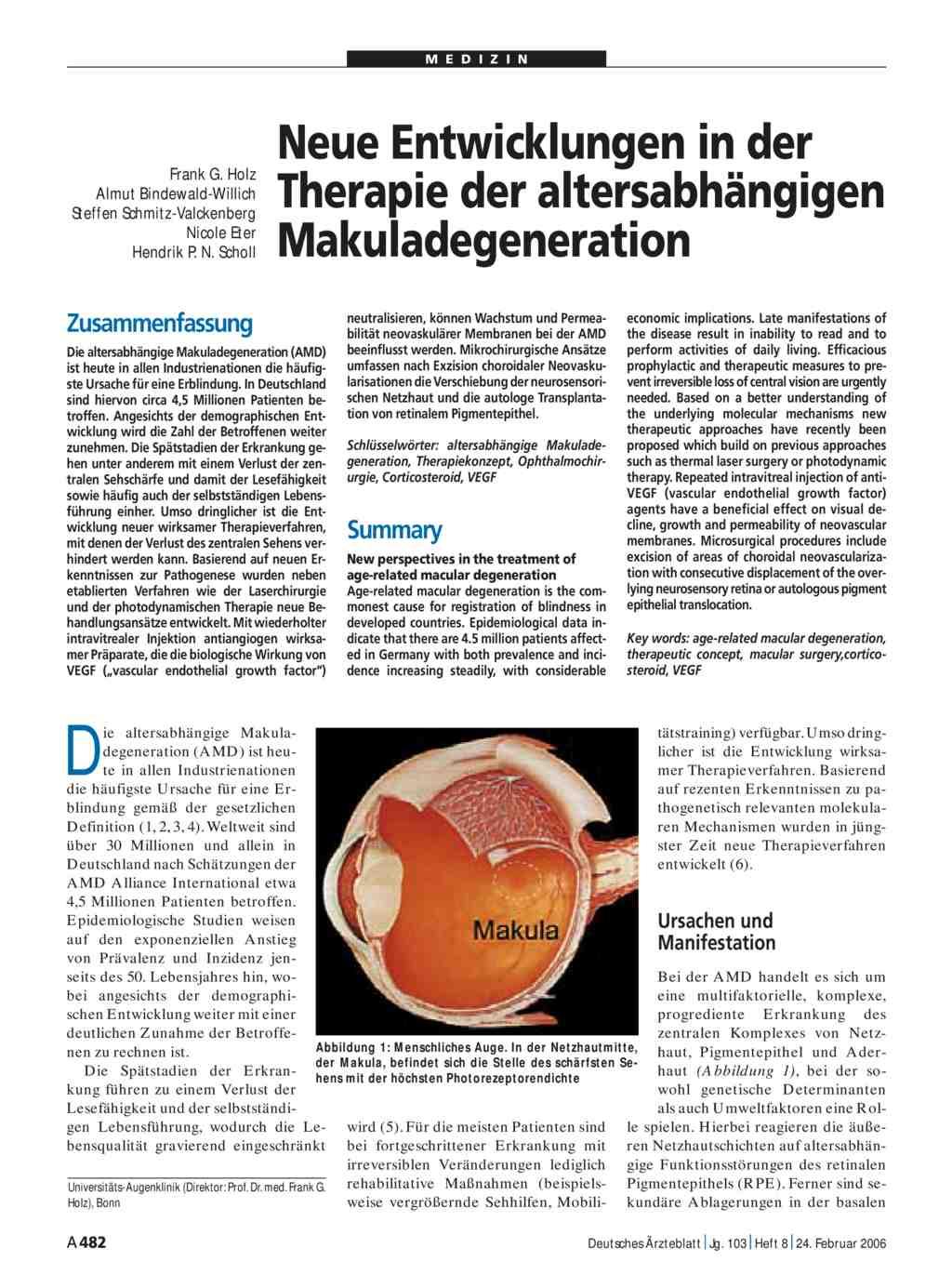 Trockene Makuladegeneration Neue Therapie