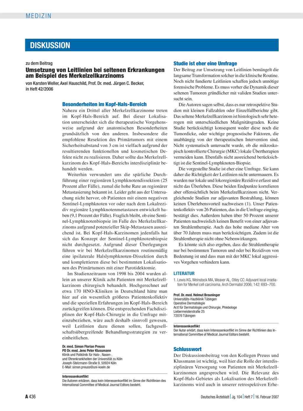 Umsetzung Von Leitlinien Bei Seltenen Erkrankungen Am Beispiel Des