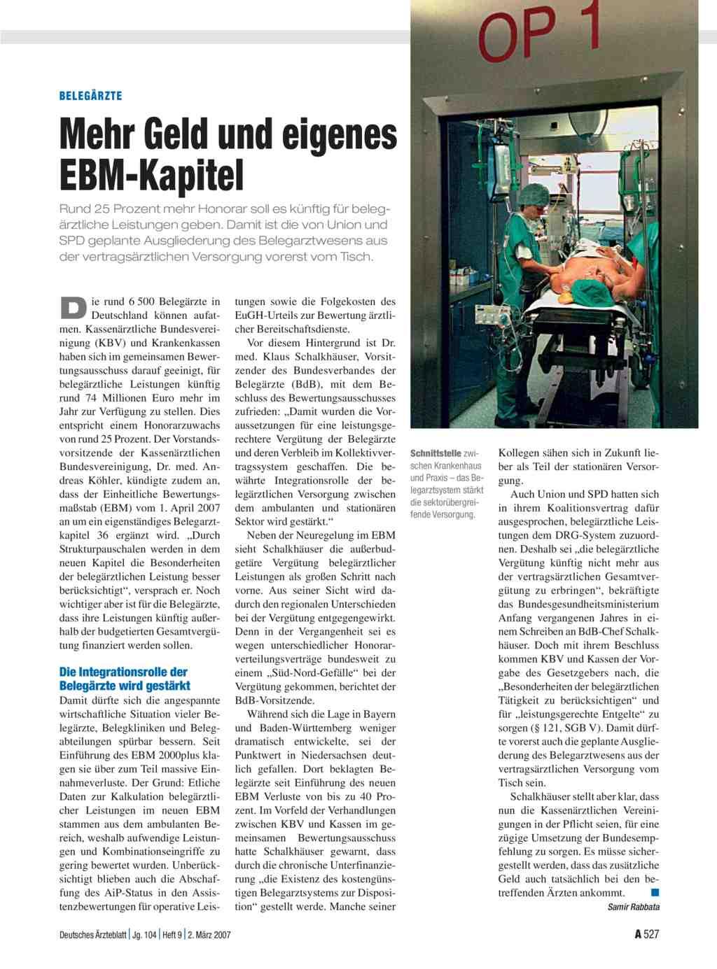Der Krankenhaus-EBM