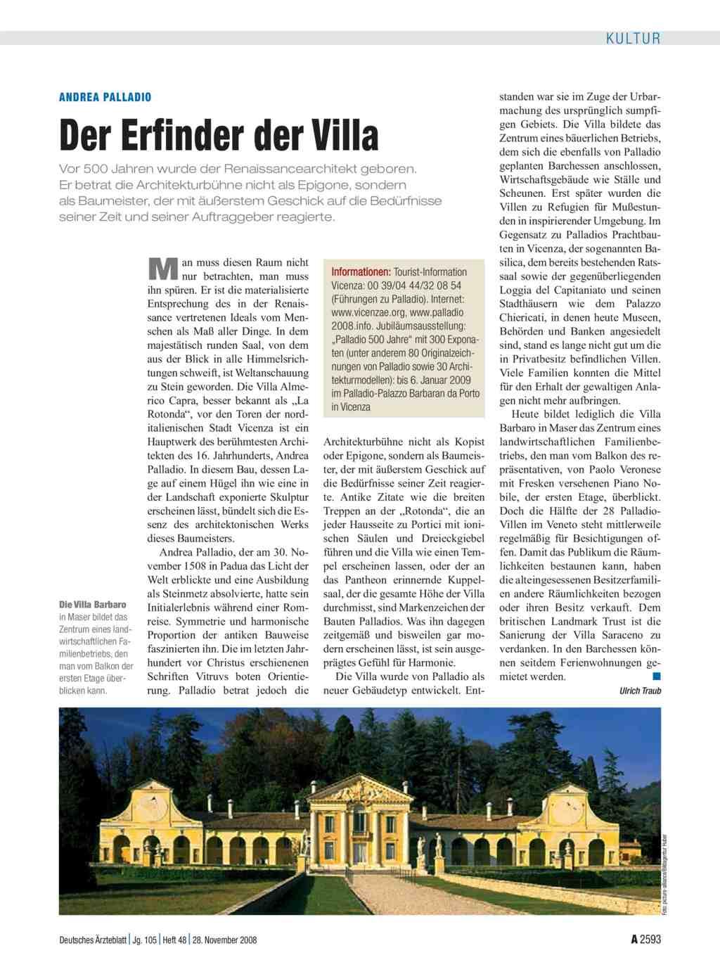 Andrea palladio der erfinder der villa for Erfinder der sms