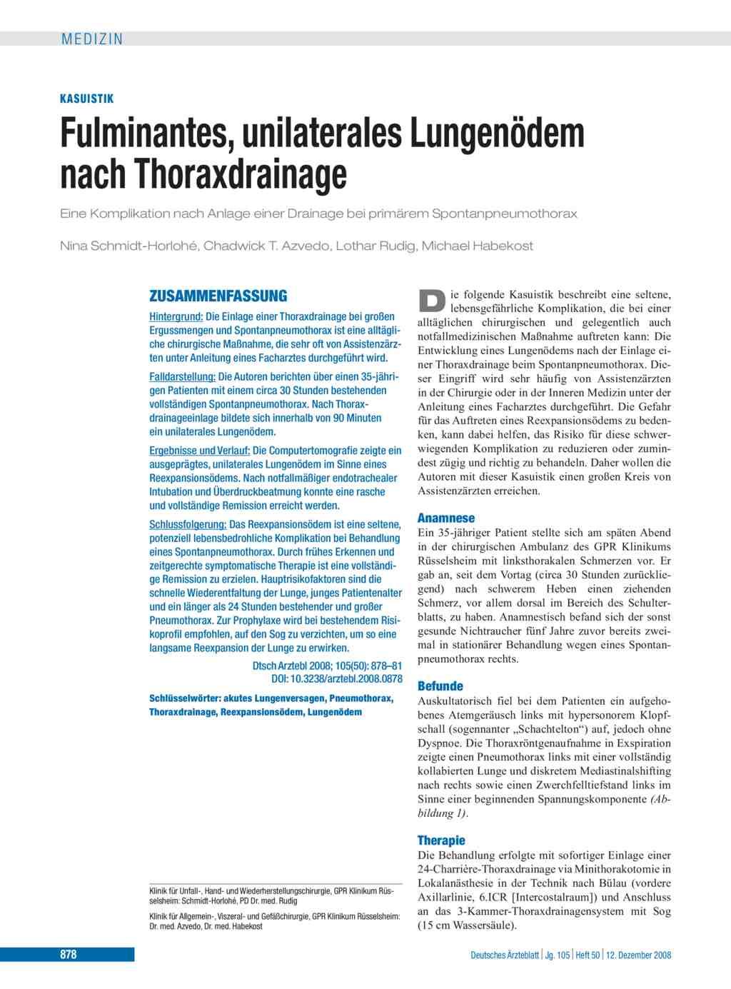 Thoraxdrainage