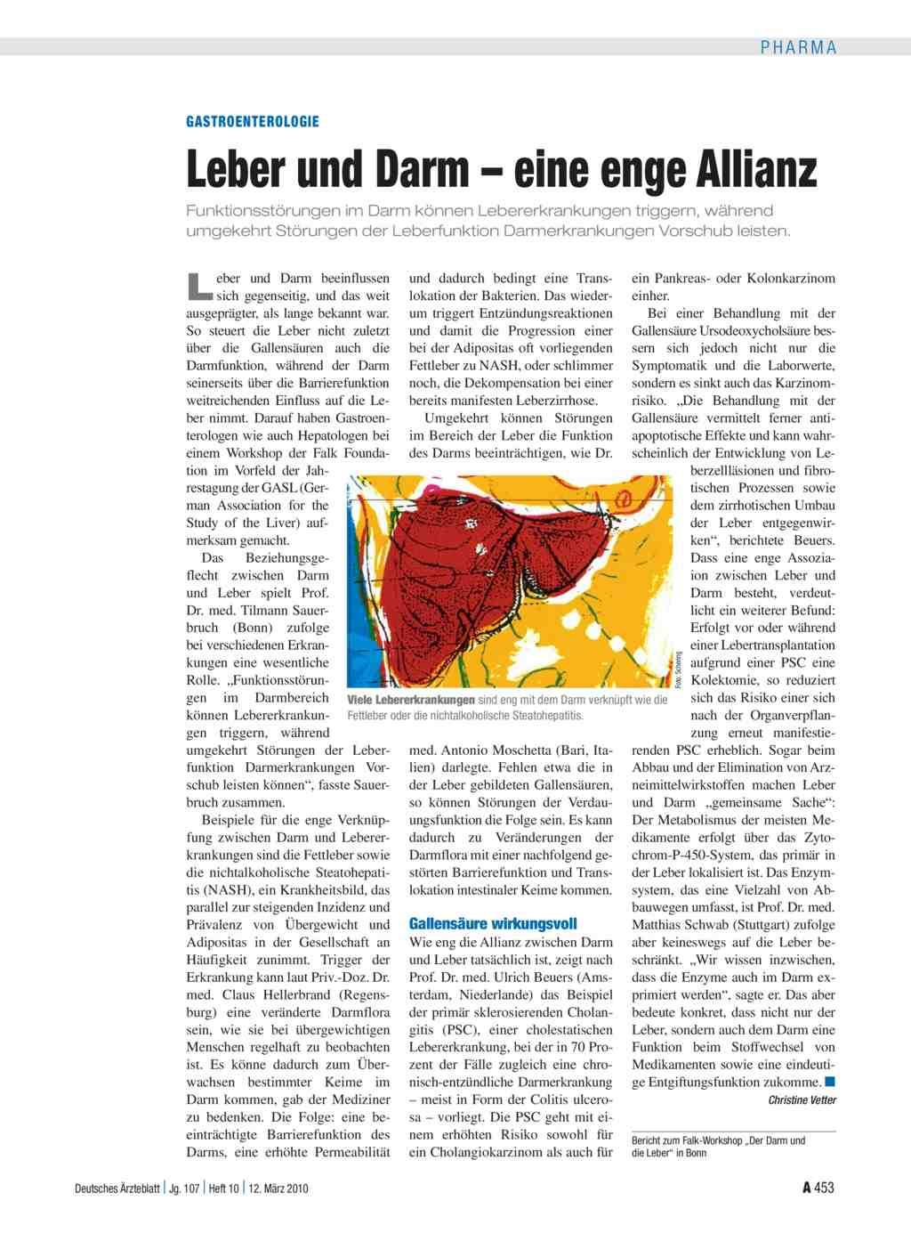 Gastroenterologie: Leber und Darm – eine enge Allianz
