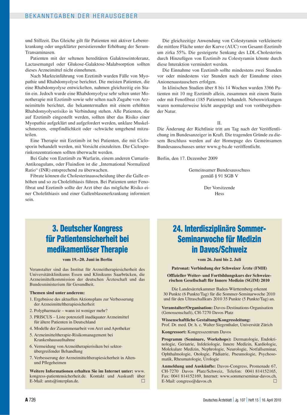 24 interdisziplin re sommer seminarwoche f r medizin in for Medizin studieren schweiz