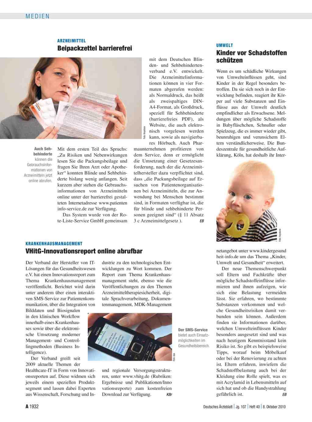 Krankenhausmanagement: VHitG-Innovationsreport online abrufbar