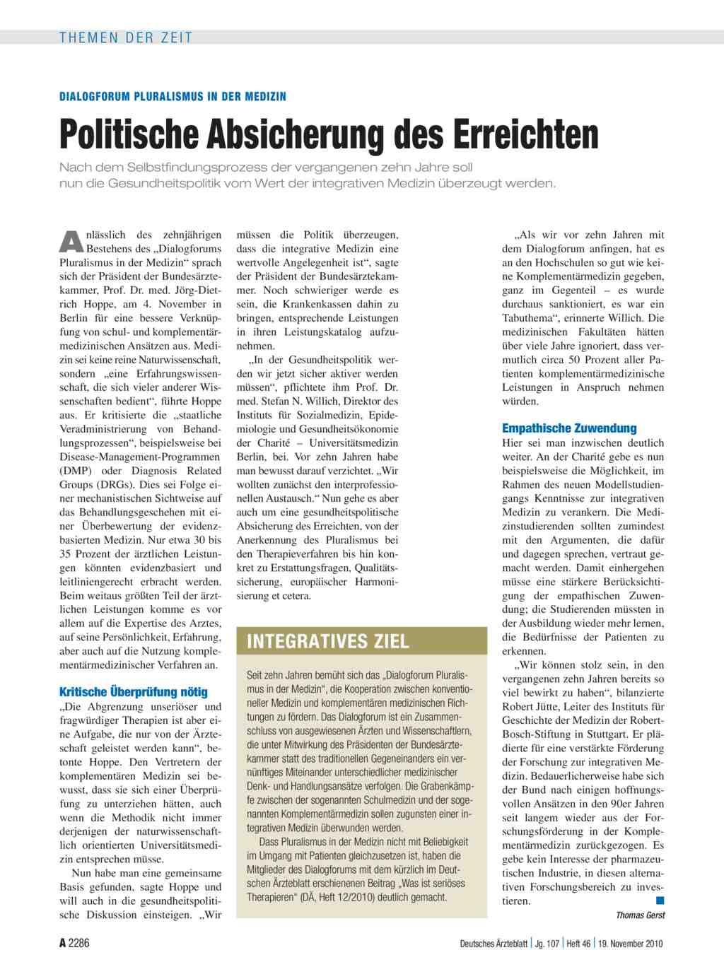 Dialogforum pluralismus in der medizin politische for Medizin studieren schweiz