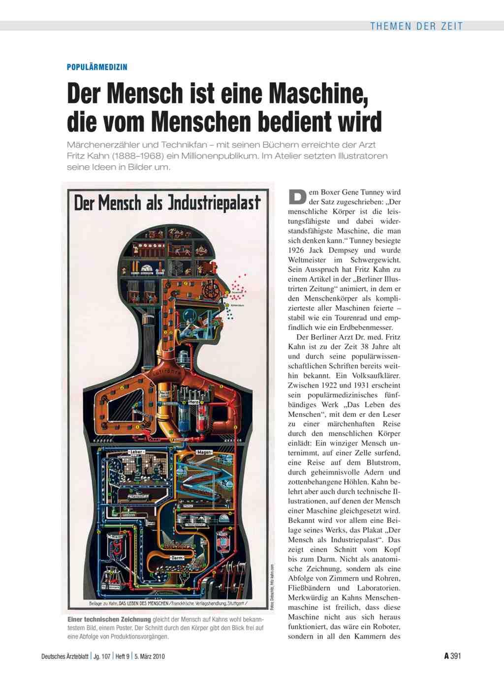 Populärmedizin: Der Mensch ist eine Maschine, die vom Menschen ...
