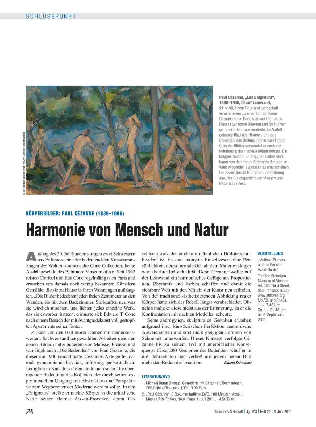 Körperbilder: Paul Cézanne (1839–1906) – Harmonie von Mensch und Natur