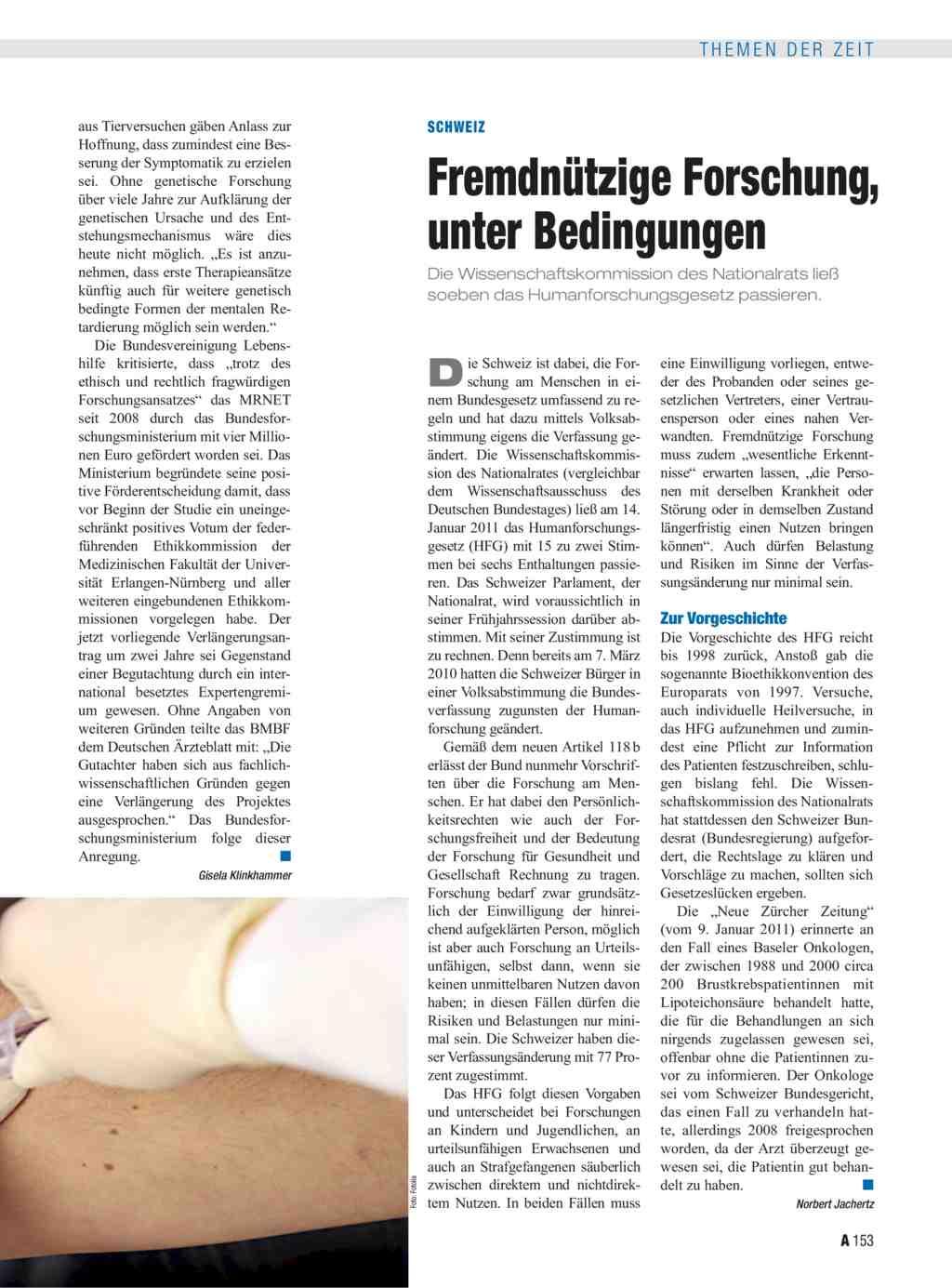 Schweiz fremdn tzige forschung unter bedingungen for Medizin studieren schweiz
