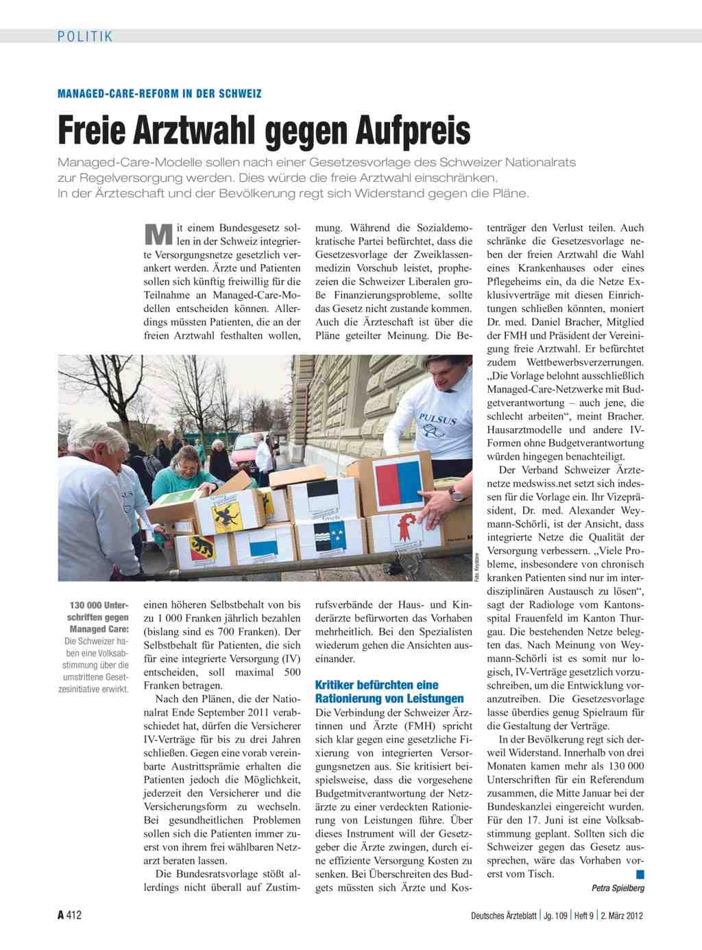 Managed care reform in der schweiz freie arztwahl gegen for Medizin studieren schweiz
