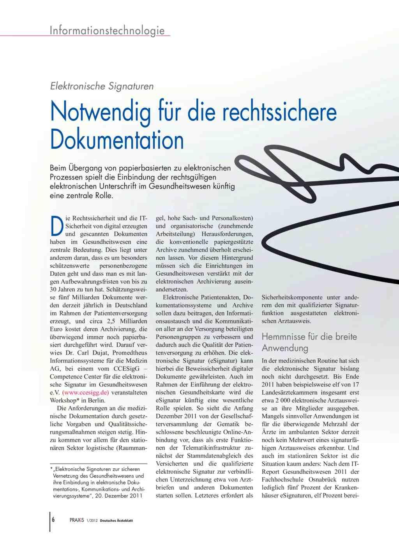 Elektronische Signaturen: Notwendig für die rechtssichere Dokumentation