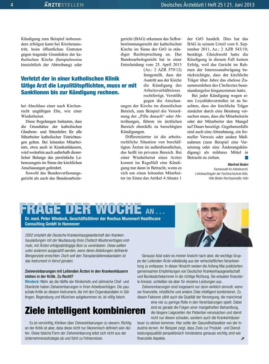 Frage Der Woche An Dr Peter Windeck Geschäftsführer Der