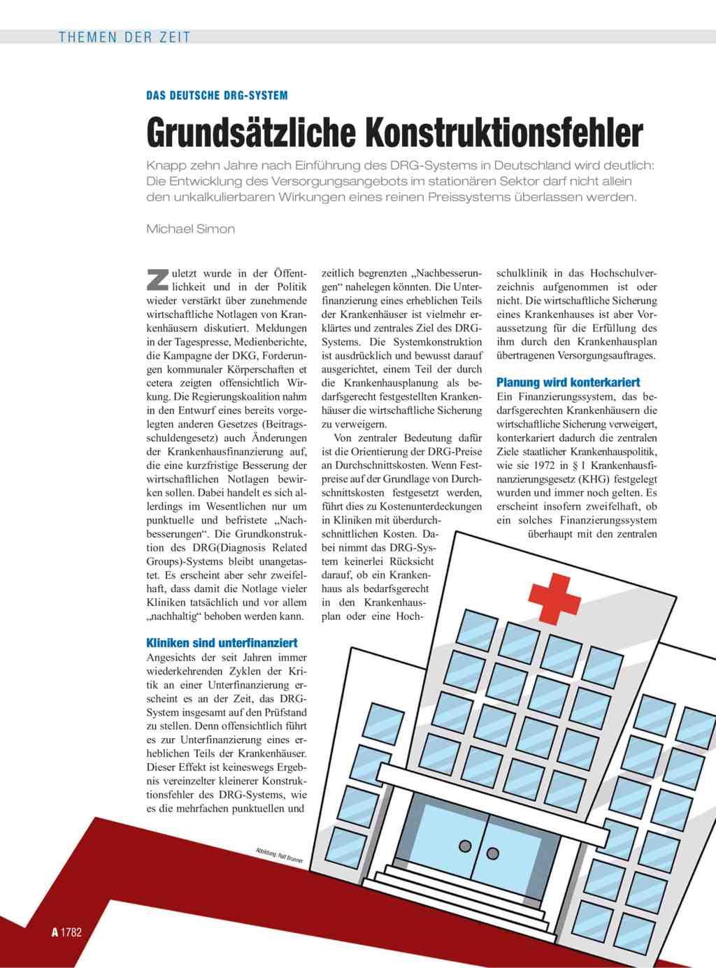Das deutsche DRG-System: Grundsätzliche Konstruktionsfehler