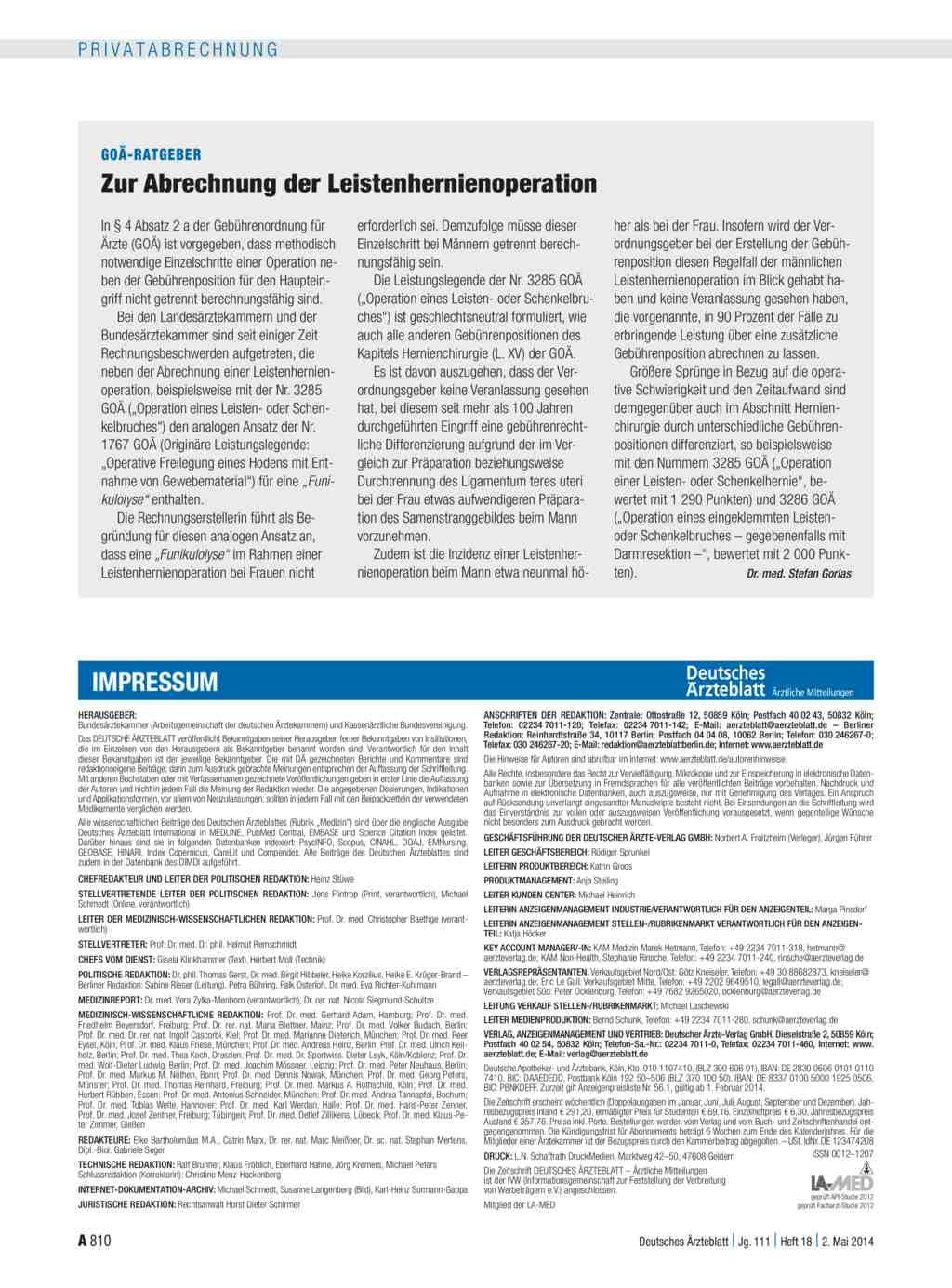 Goä Abrechnung Lernen : go ratgeber zur abrechnung der leistenhernienoperation ~ Themetempest.com Abrechnung