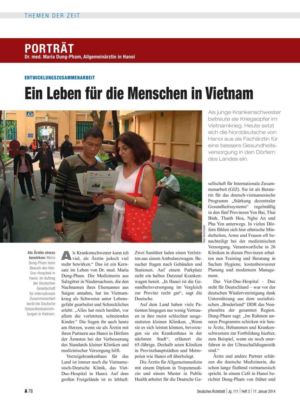 Dr. med. Maria Dung-Pham, Allgemeinärztin in Hanoi ...