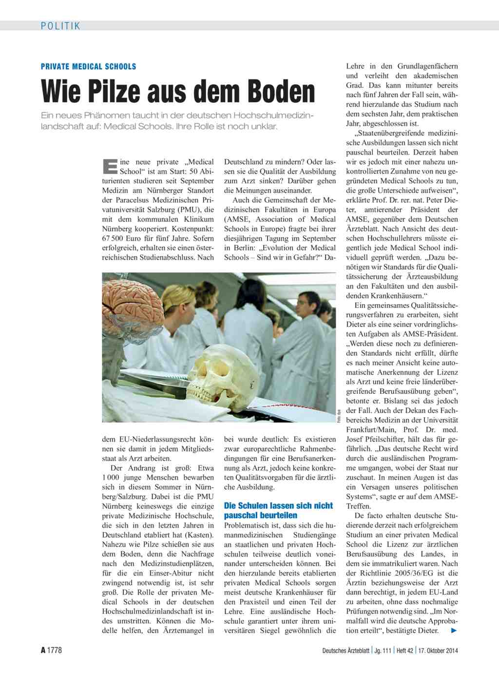 Private medical schools wie pilze aus dem boden dtsch for Artikel boden