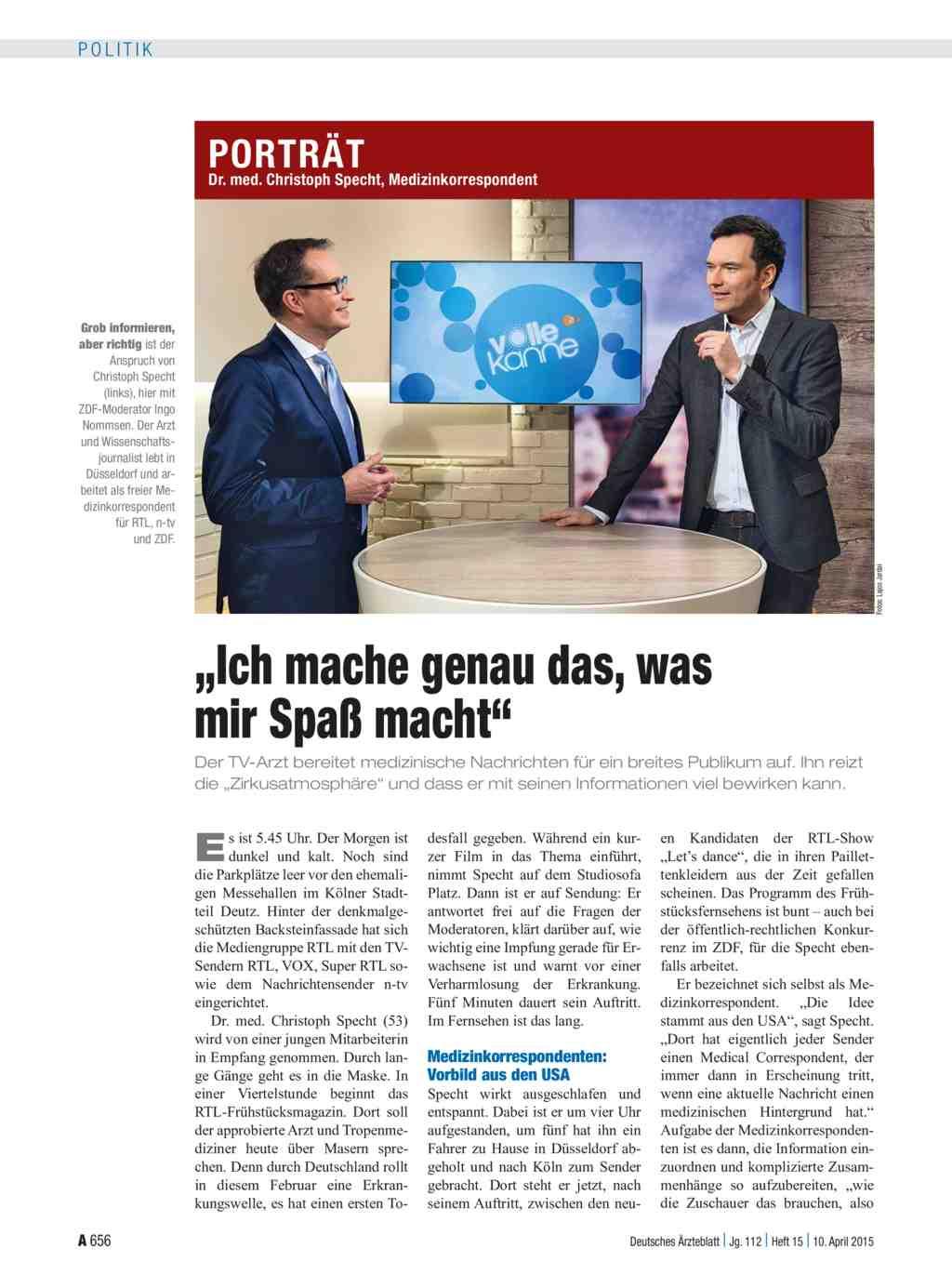 Dr Med Christoph Specht Medizinkorrespondent Ich Mache Genau