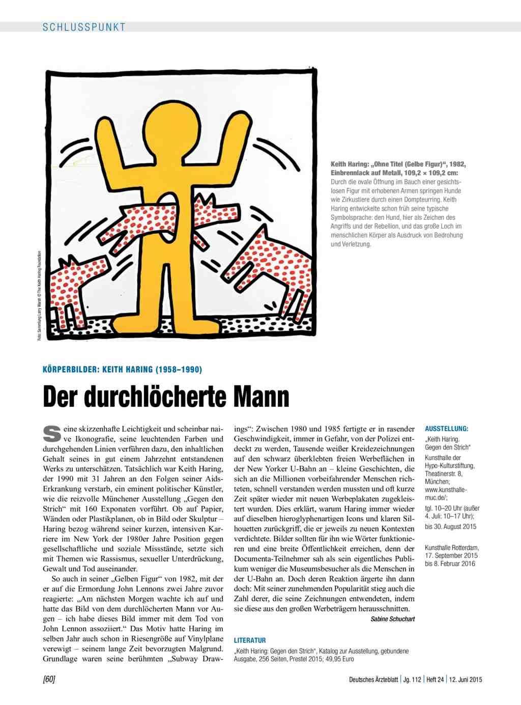 Körperbilder Keith Haring 19581990 Der Durchlöcherte Mann