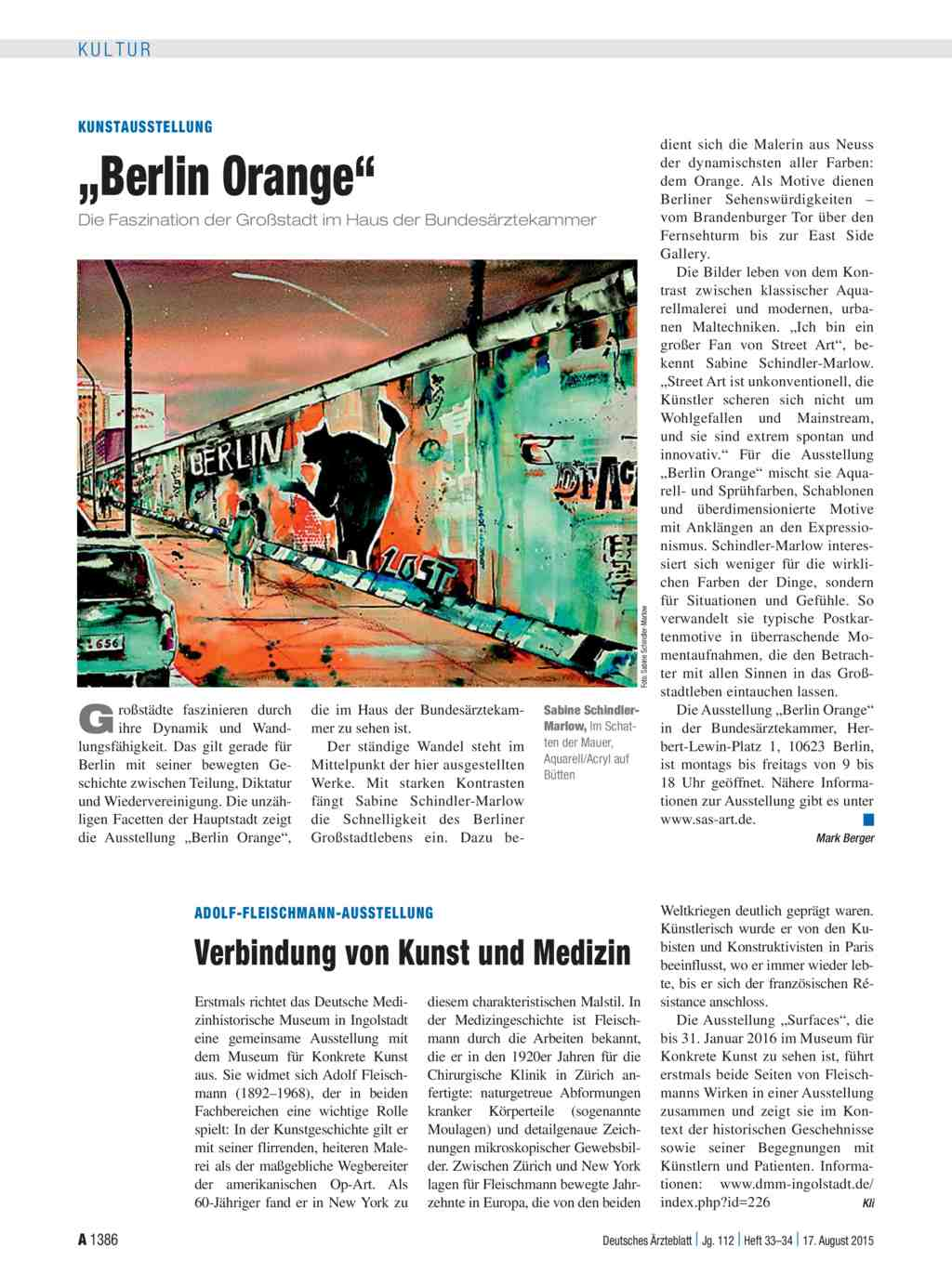 "Kunstausstellung: ""Berlin Orange"""