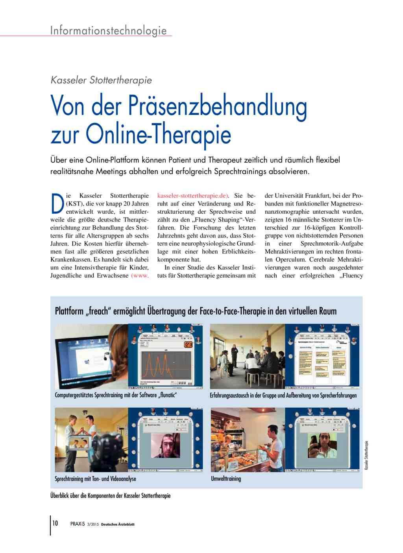 Kasseler stottertherapie von der pr senzbehandlung zur for Medizin studieren schweiz
