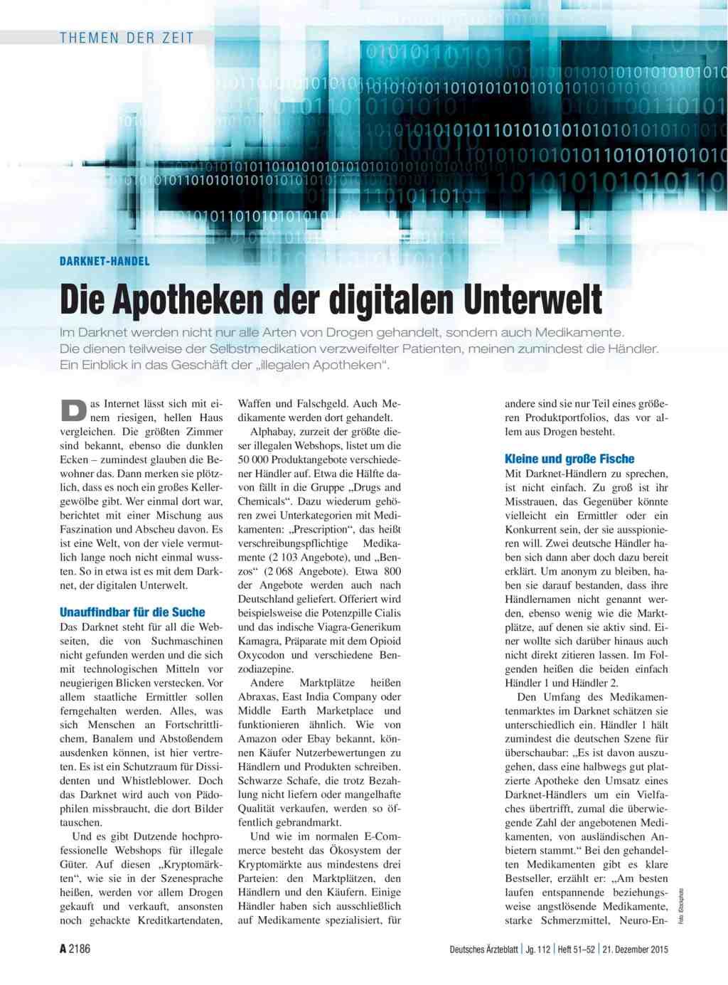 Darknet-Handel: Die Apotheken der digitalen Unterwelt
