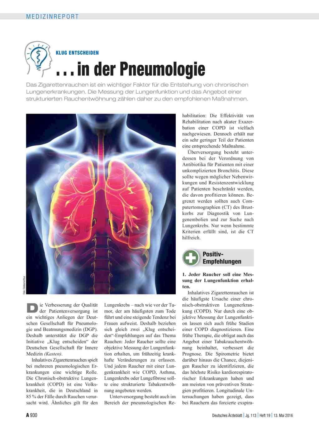 Klug entscheiden: . . . in der Pneumologie