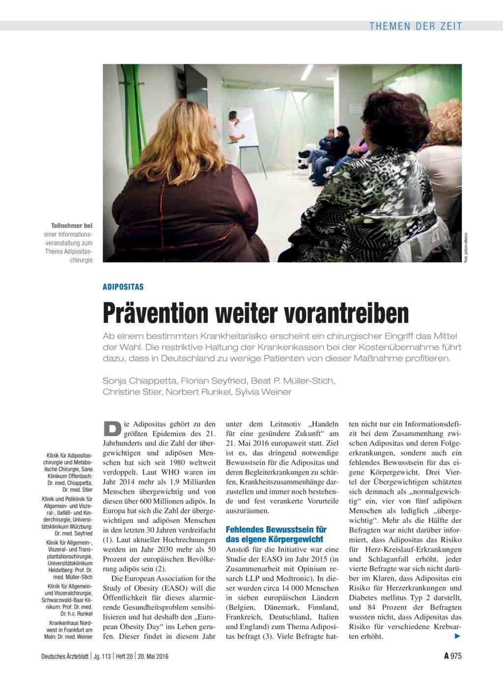 Adipositas: Prävention weiter vorantreiben