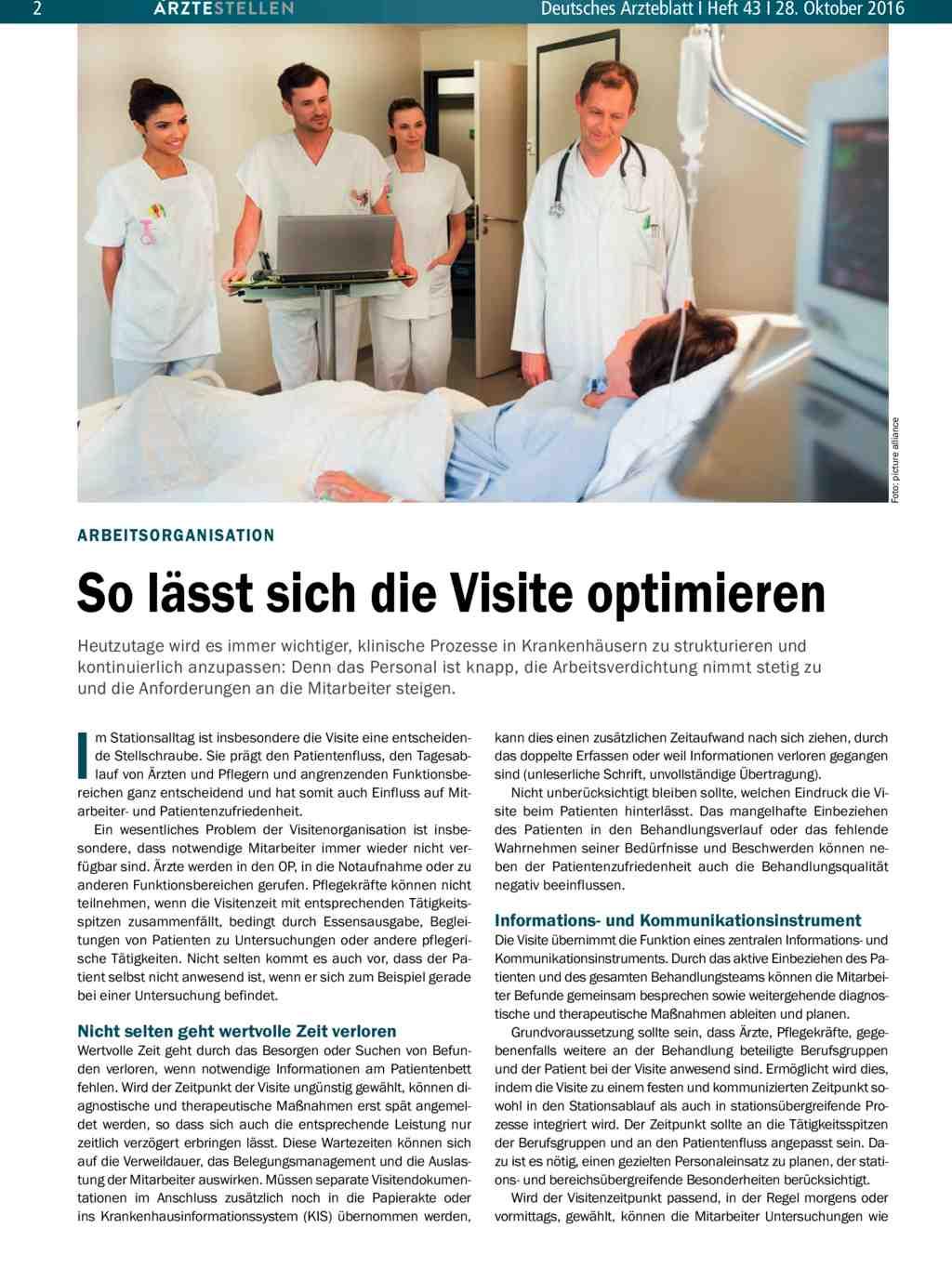 Arbeitsorganisation: So lässt sich die Visite optimieren