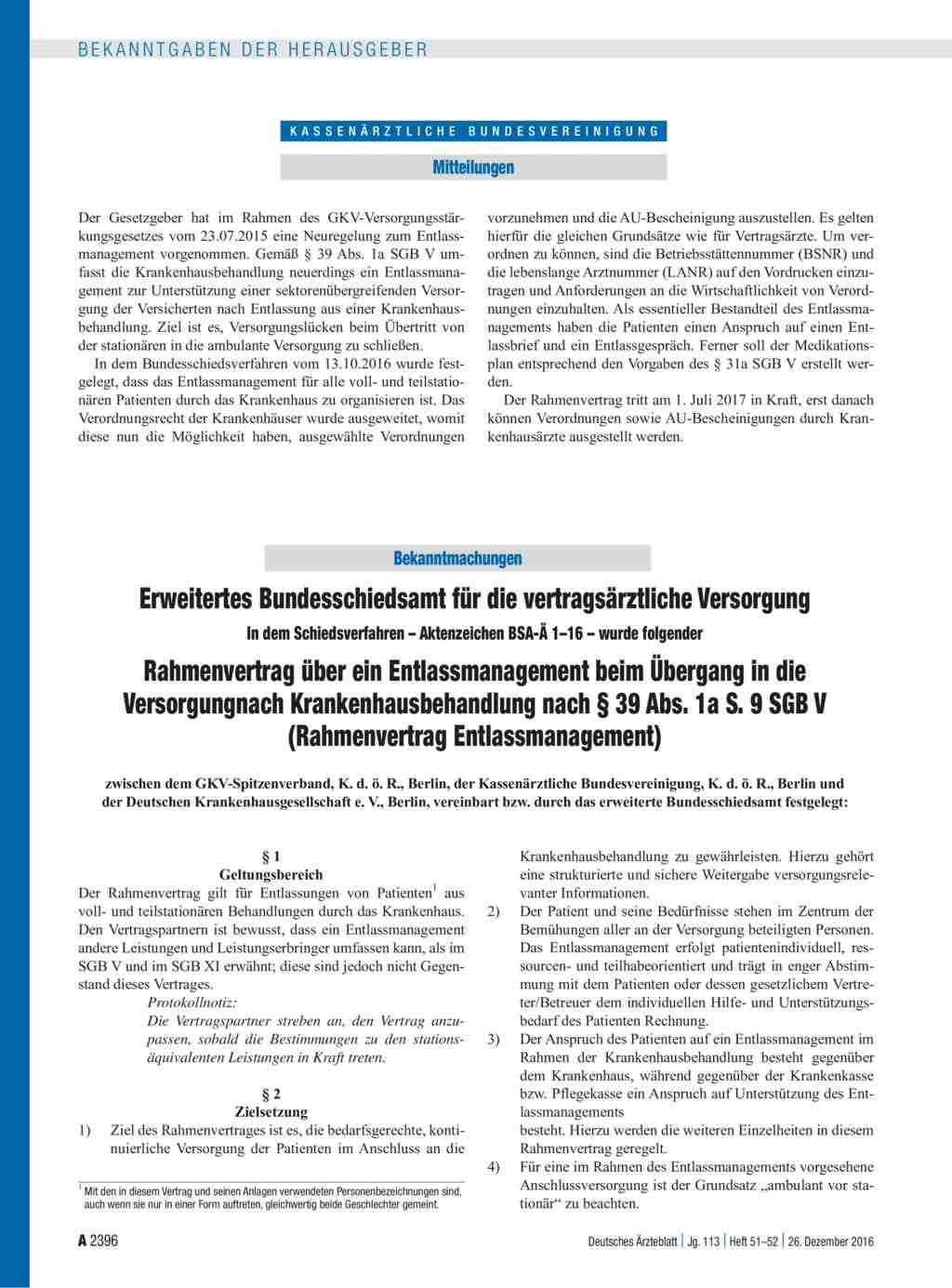 Erweitertes Bundesschiedsamt Für Die Vertragsärztliche Versorgung