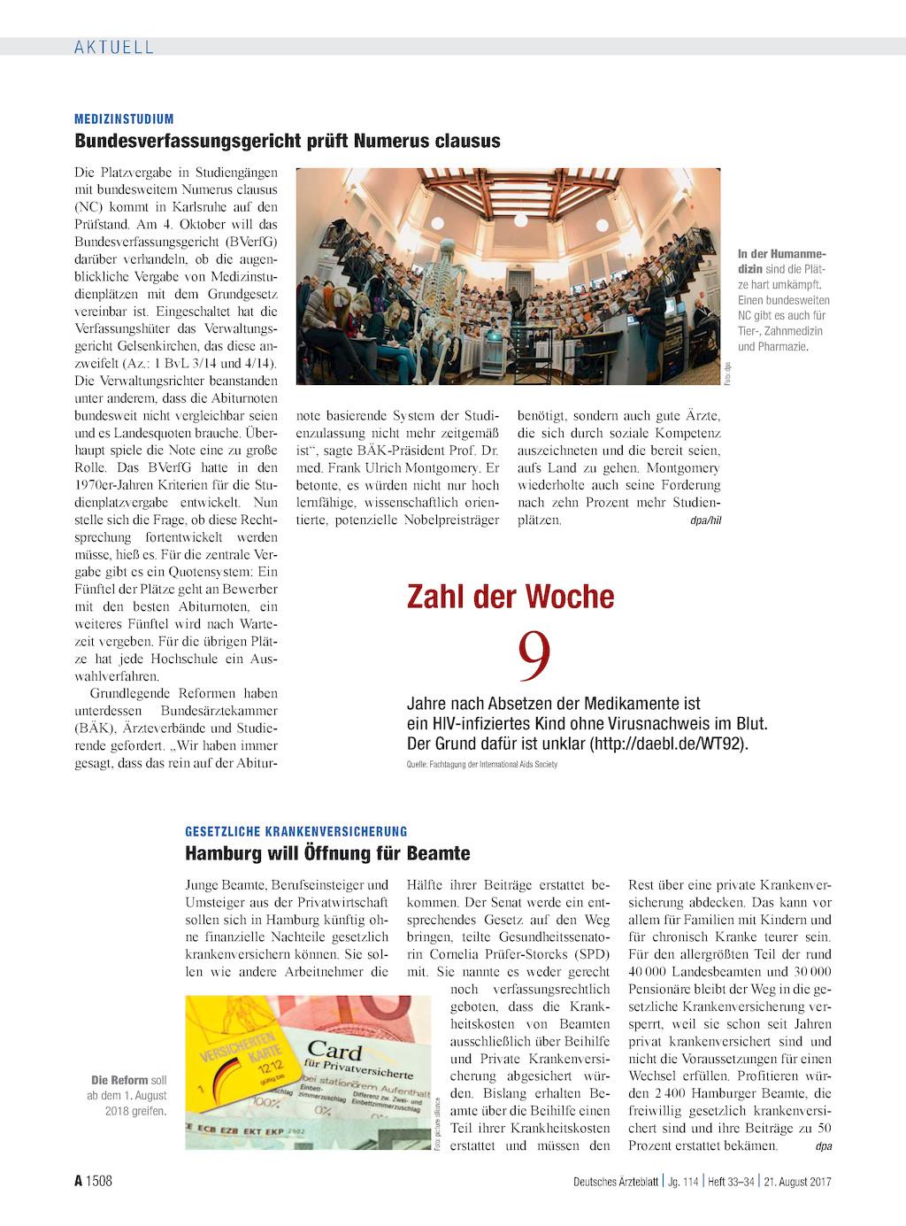 Medizinstudium bundesverfassungsgericht pr ft numerus clausus for Der numerus clausus