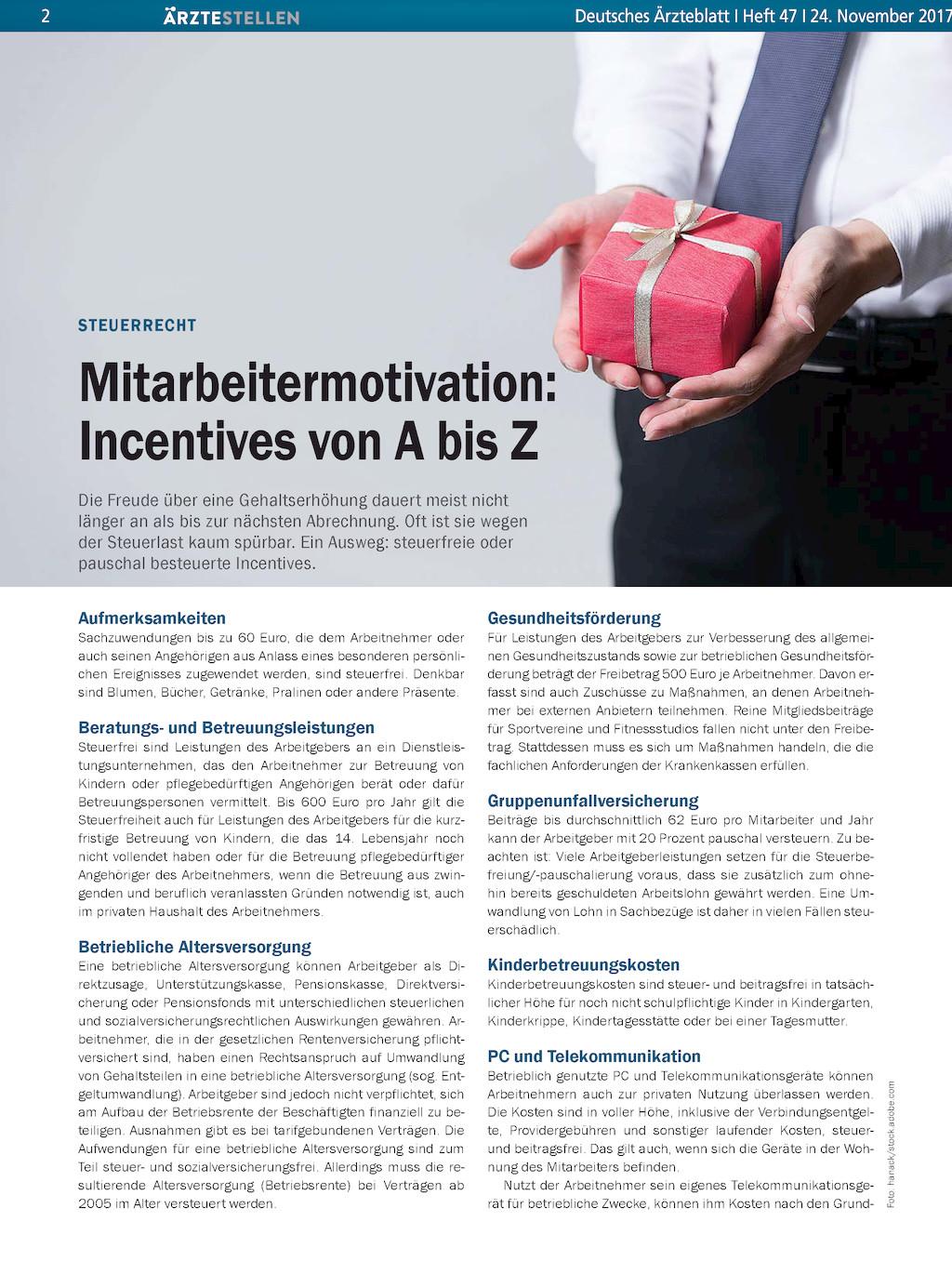steuerrecht mitarbeitermotivation incentives von a bis z. Black Bedroom Furniture Sets. Home Design Ideas
