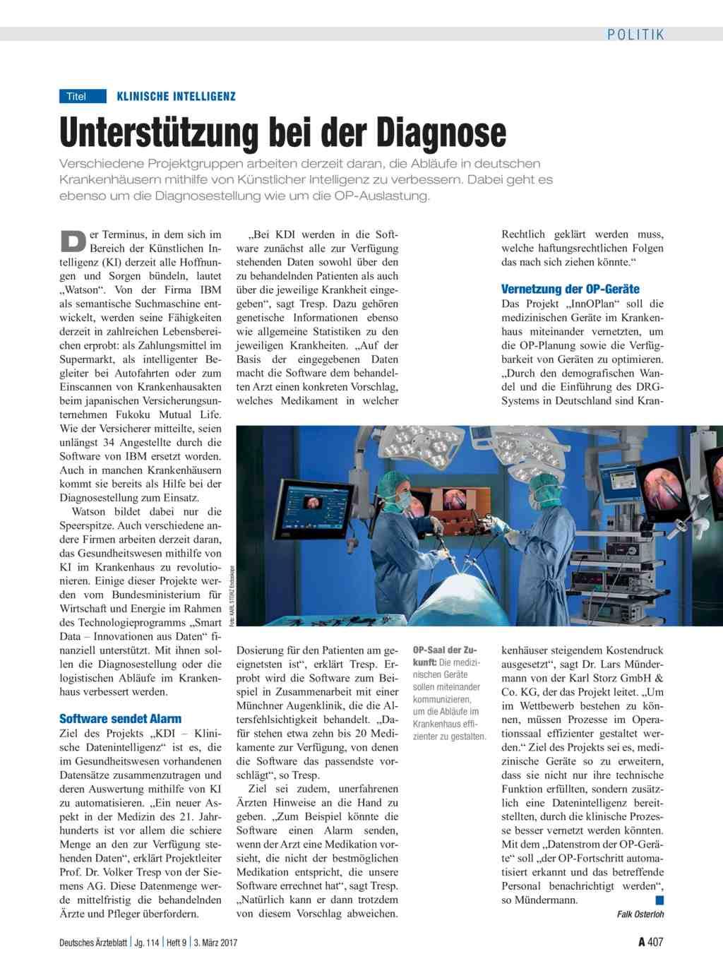 Klinische Intelligenz: Unterstützung bei der Diagnose