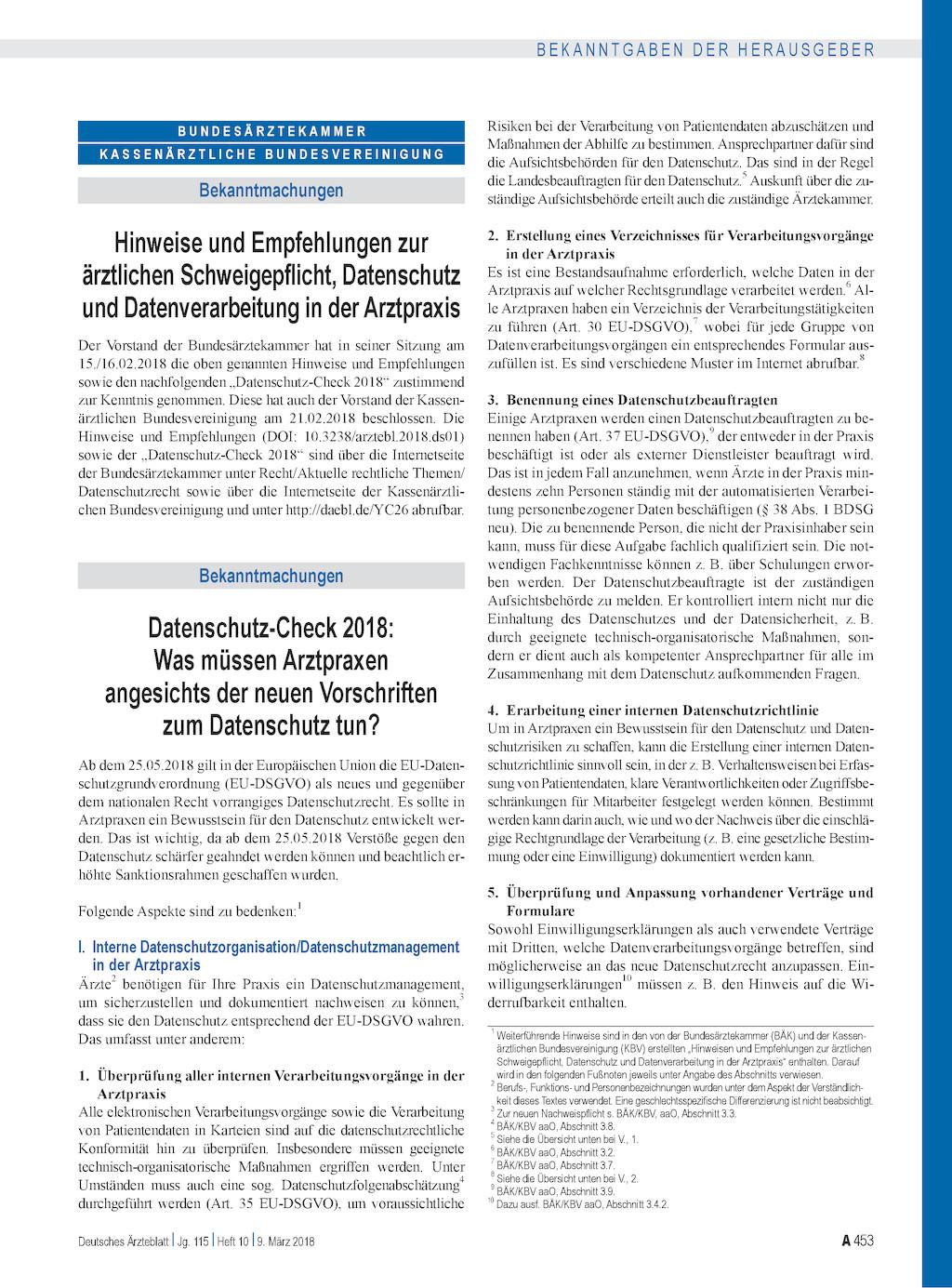 datenschutz check 2018 was mssen arztpraxen angesichts der neuen vorschriften zum datenschutz tun - Muster Datenschutzerklarung