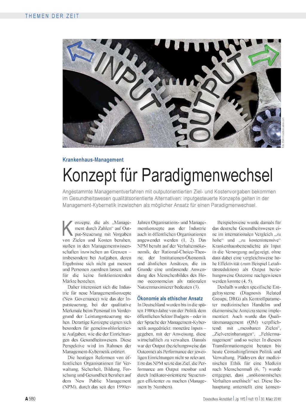Krankenhaus-Management: Konzept für Paradigmenwechsel