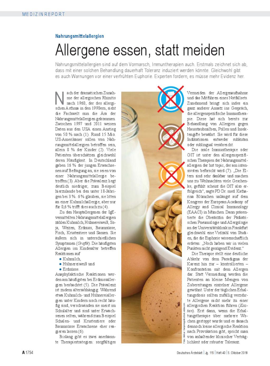 Nahrungsmittelallergien Allergene Essen Statt Meiden