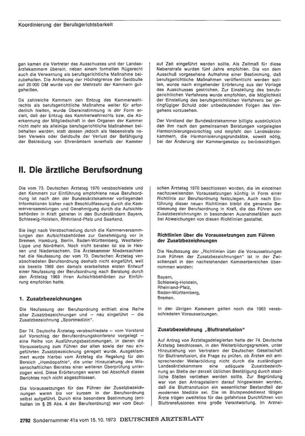 Bericht über Das Jahr 197273 E Der Arzt Im Beruf Ii Die