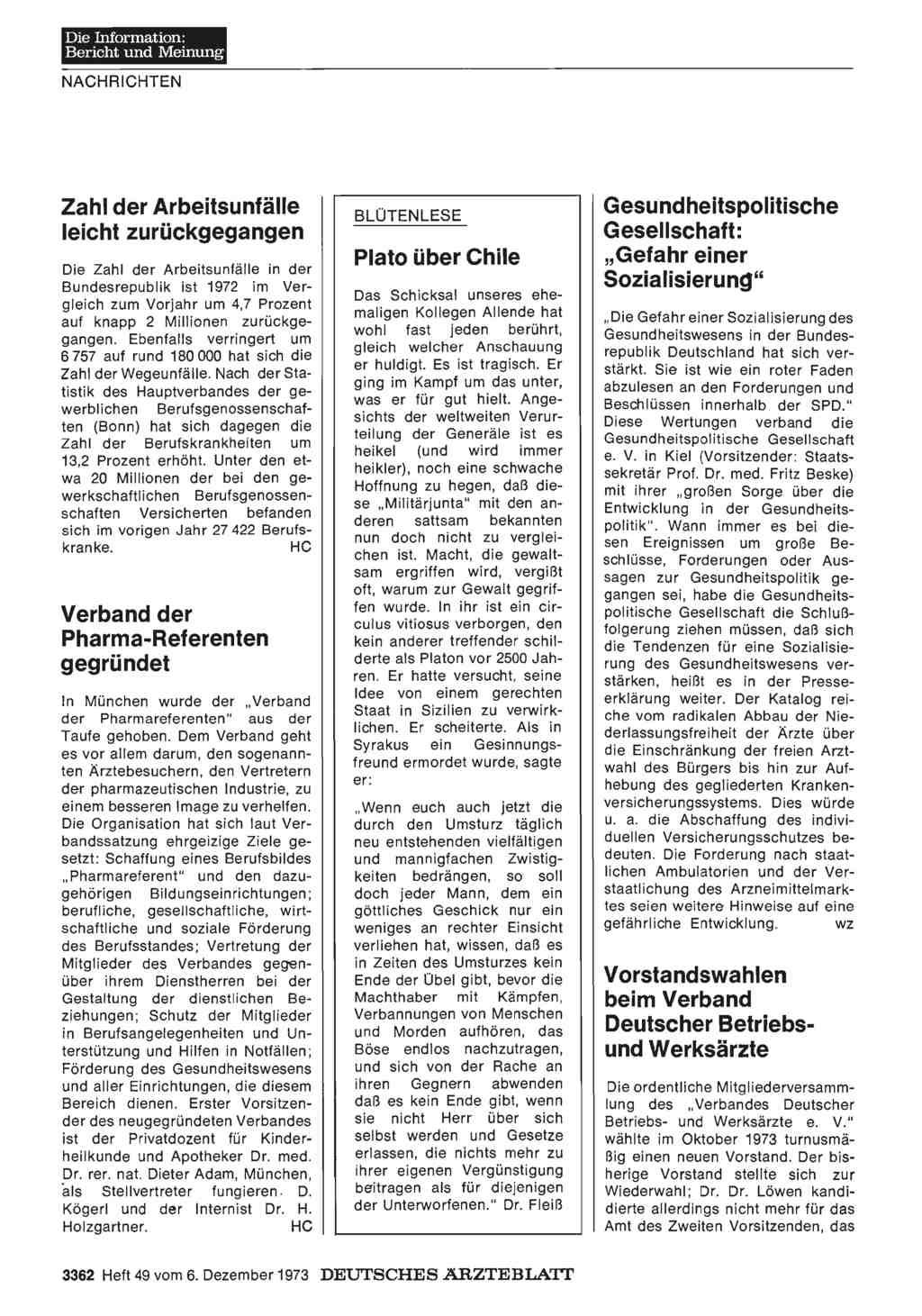 Verband der Pharma-Referenten gegründet