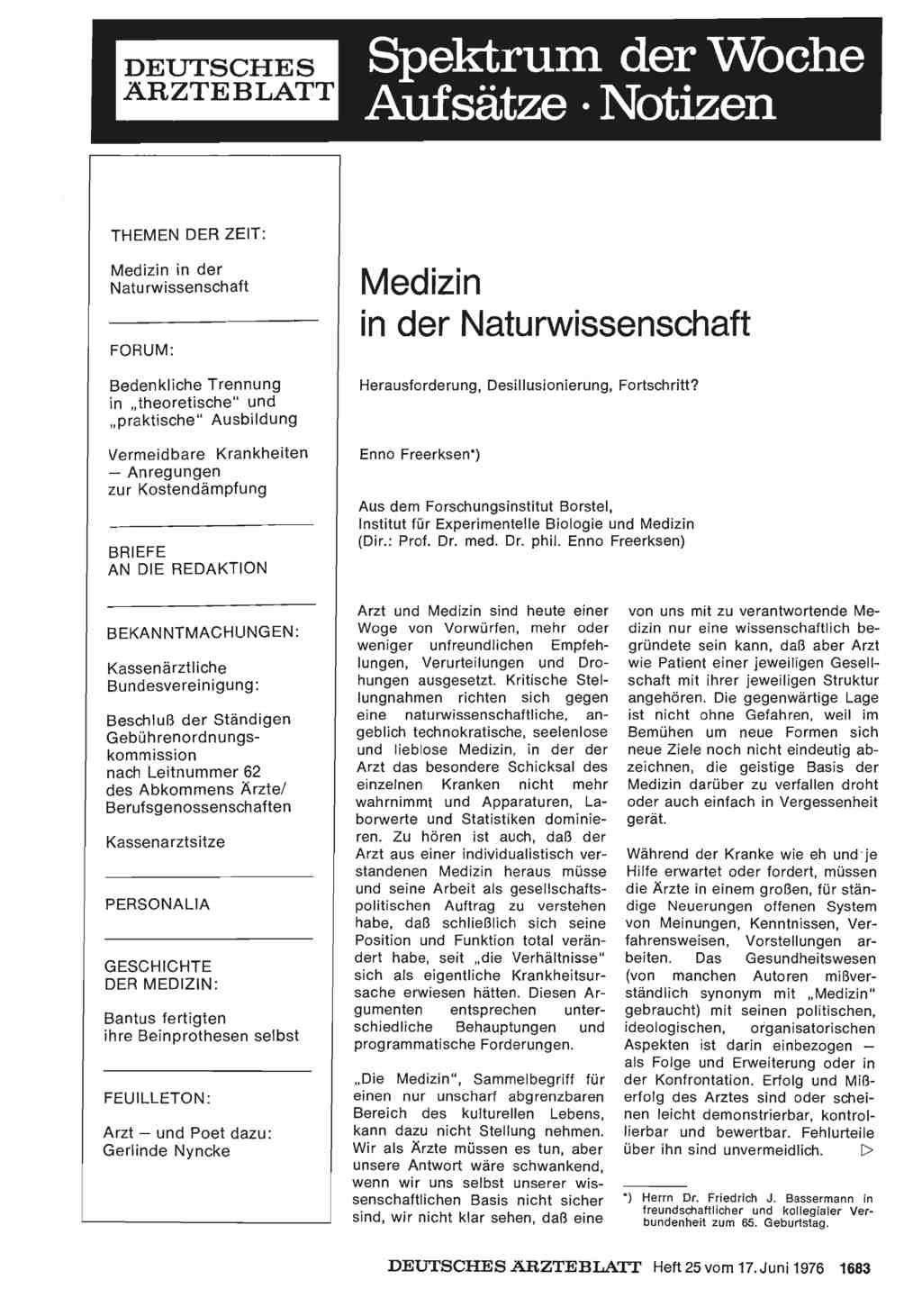 Medizin in der naturwissenschaft herausforderung for Medizin studieren schweiz
