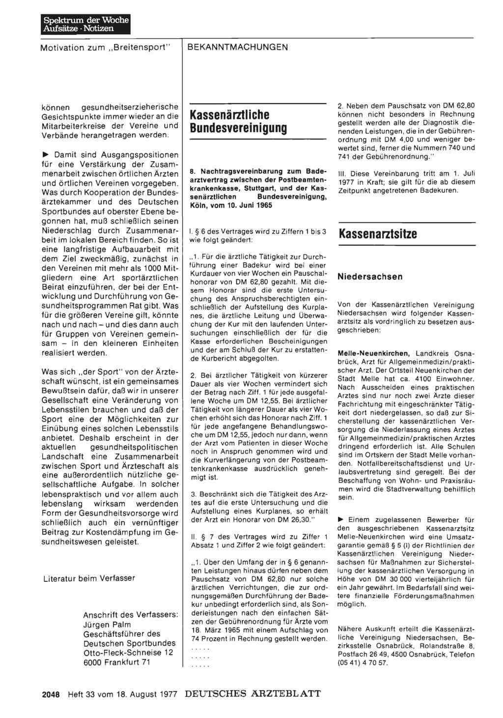 Kassenärztliche Bundesvereinigung 8 Nachtragsvereinbarung Zum
