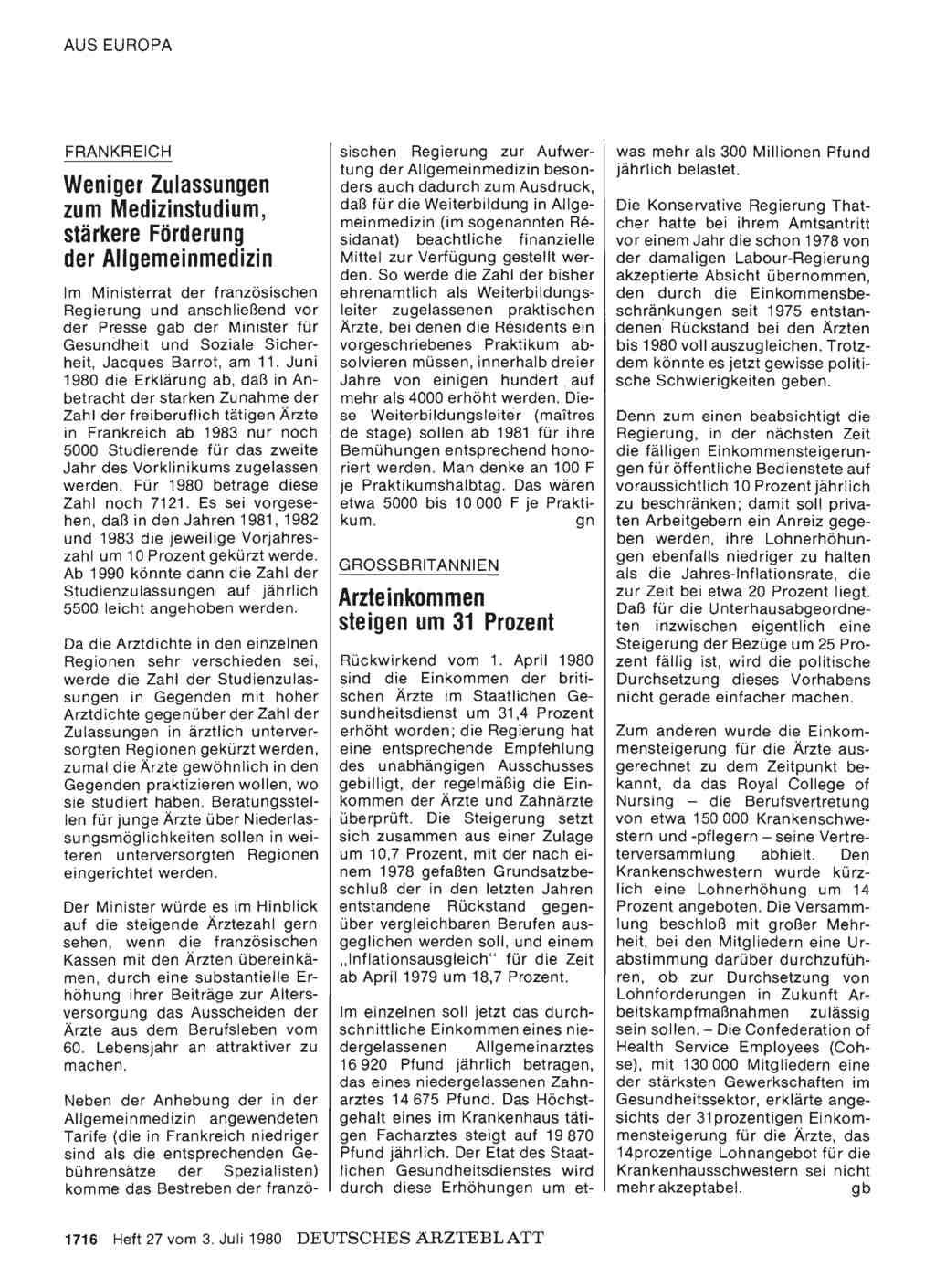 Frankreich weniger zulassungen zum medizinstudium for Medizin studieren schweiz