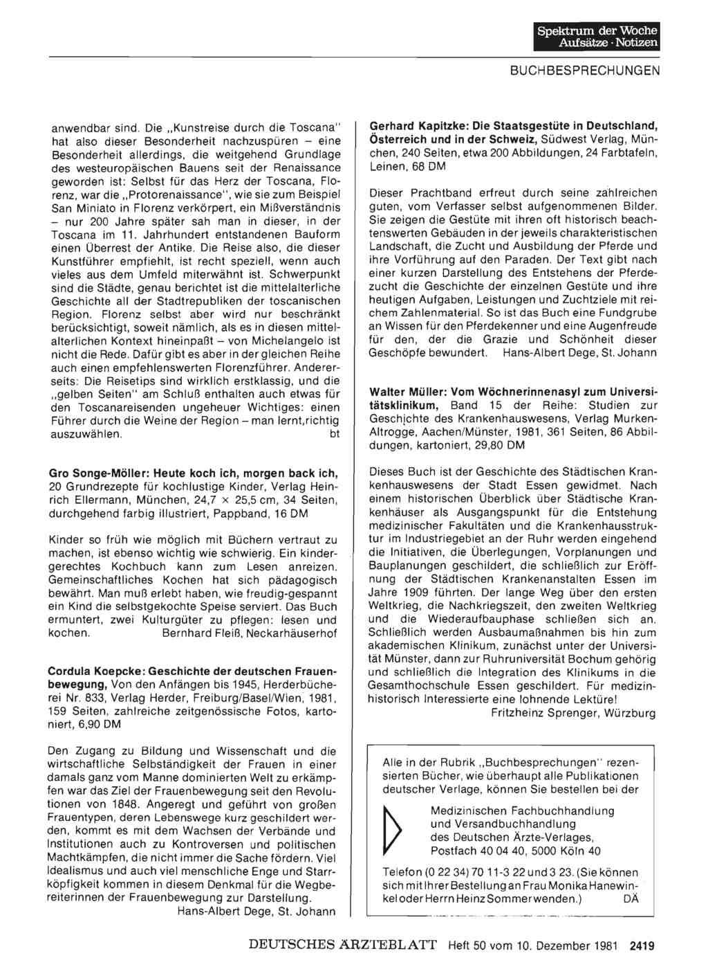 Gerhard kapitzke die staatsgest te in deutschland for Medizin studieren schweiz