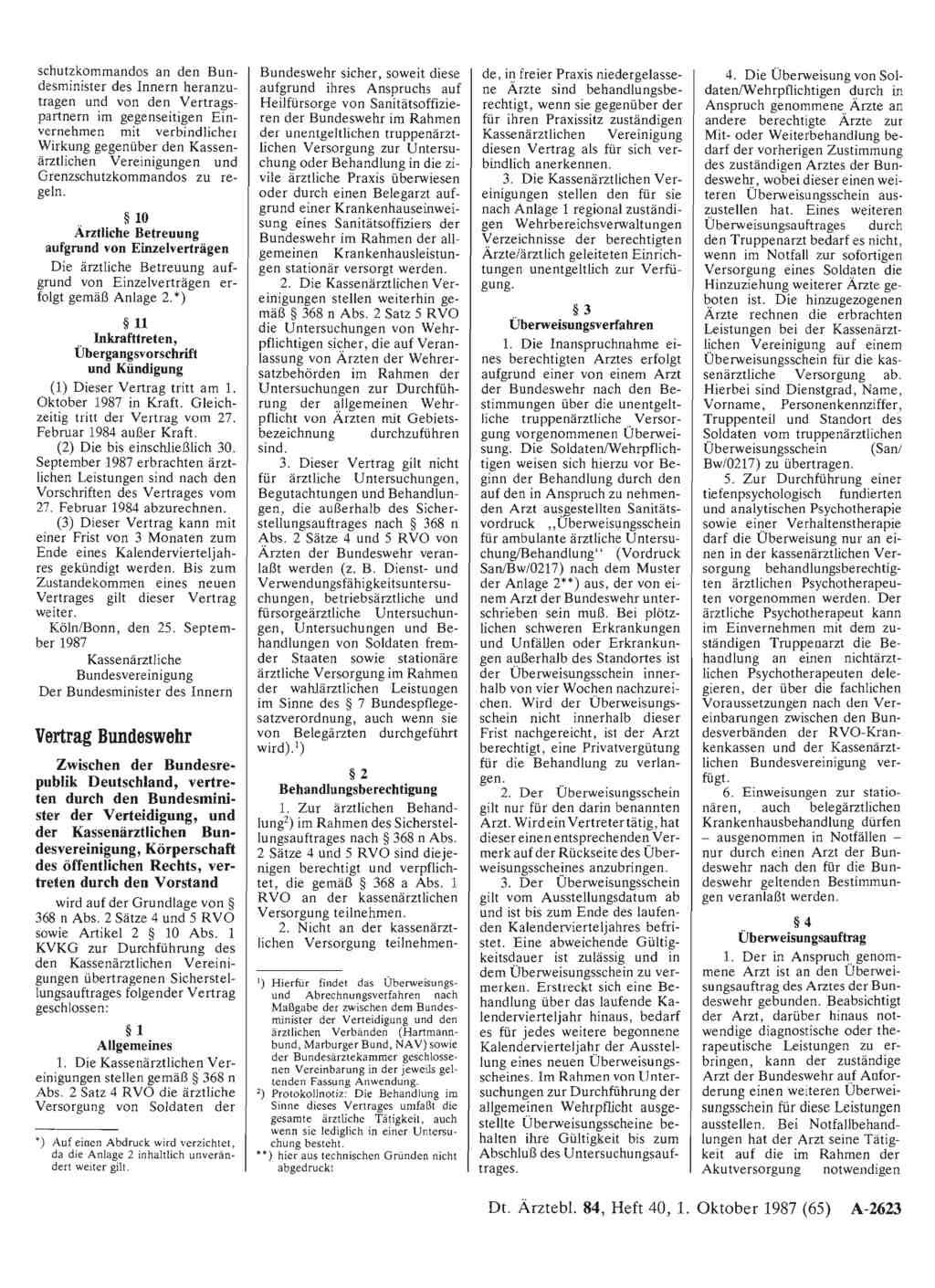 Vertrag Bundeswehr