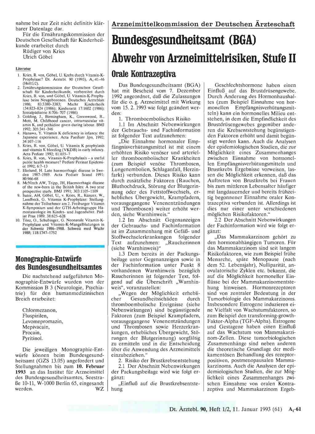 Stand 04/2017 Orale Kontrazeptiva Übersicht & Services