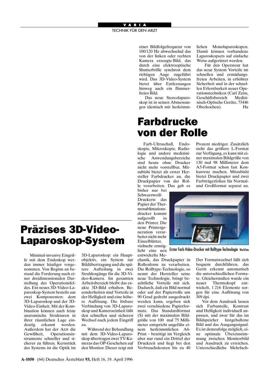Präzises 3D-Video-Laparoskop-System